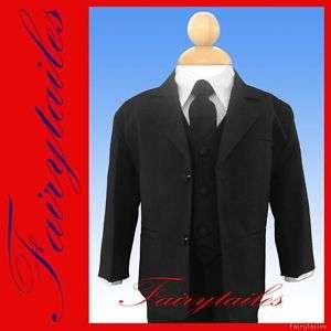New Baby Boy Infant Tuxedo Suit Black S 3 6 Months