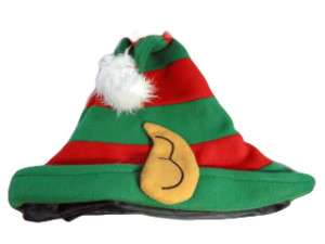 Green and Red High Quality Christmas Elf Hat