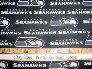 Seattle Seahawks 100% Cotton Fabric   NFL Football Team Sports