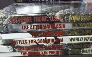 WORLD WAR TWO II 12 DVDS 37 BOOKS TIME LIFE HISTORY