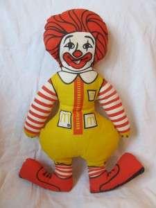 Vintage 80s Ronald McDonald McDonalds pillow doll plush |