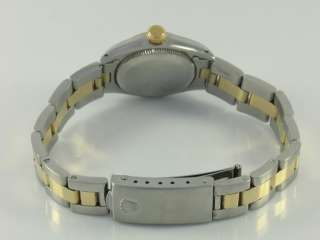 Vintage Rolex Ladies White Oyster Perpetual Gold 6719