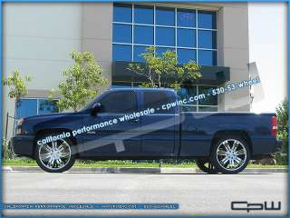 CHEVROLET TAHOE 24 CHROME PLATED RIMS TIRES WHEEL AND TIRE PACKAGE