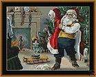 VINTAGE SANTA~counted cross stitch pattern #823~Holidays Christmas
