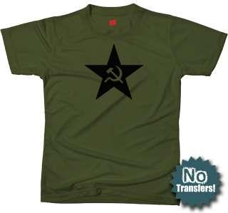 Black Russia Star CCCP USSR Russian Retro Army T shirt