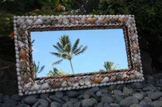 Rectangular Mirror w/ Seashells XL   Coastal Living