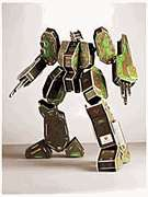 Foam Craft Kit.   Robot Humanoid Trooper.