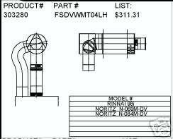 Rinnai Elbow Horizontal Concetric vent kit R98i