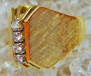 Goldringe 14kt 585 Gold Ring Damen Herren Ring Diamant Schmuck