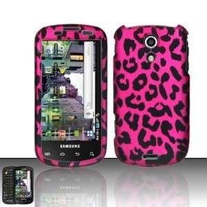Epic 4G Galaxy S D700 Hard Protector Case Phone Cover Hot Pink Leopard