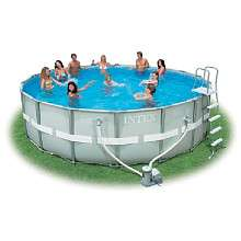 18 x 52 Round Ultra Frame Pool With Saltwater System   Intex