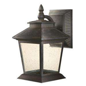 Hampton Bay Lexington Collection Rustic Bronze LED Outdoor Medium Wall