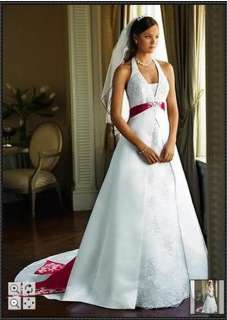 Custom made white/ivory lace A line wedding bridal dress gown bow sash