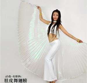 HotNEW Belly Dance Costume Isis Wings color White