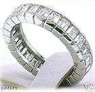 10.8 ct Emerald Cut DIAMOND ETERNITY BAND Platinum RING items in Fine