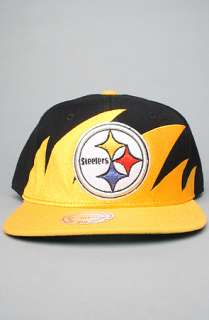 Mitchell & Ness The Pittsburgh Steelers Sharktooth Snapback Hat in