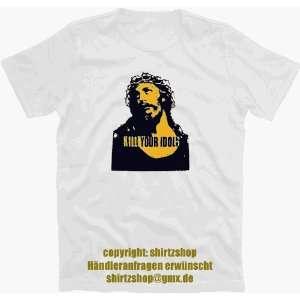 KILL YOUR IDOLS jesus axel rose T Shirt S XXXL neu  Sport