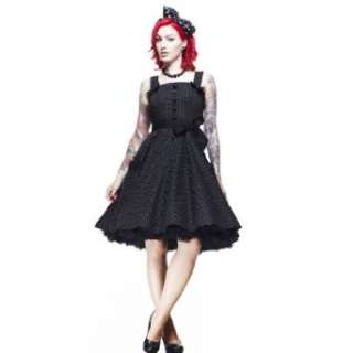 Hell Bunny Kleid GERY 50S POLKADOT DRESS black/white