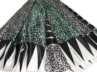 Roberto Cavalli Silk Scarf /Animal Print 46X46(White)