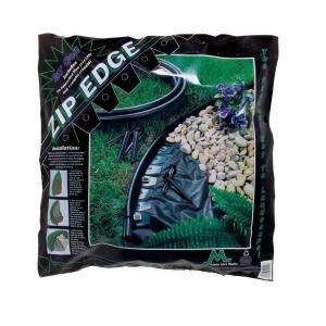 Landscape Lawn Edging with Sod Pins Black 41220