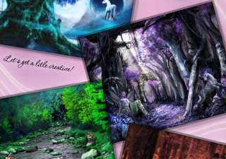 MAGICAL WOODS Digital Backgrounds Backdrops Kids Children Photography
