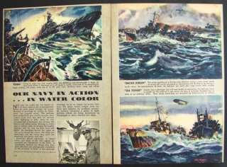 Arthur Beaumont WWII Navy Artist 1944 pictorial prints