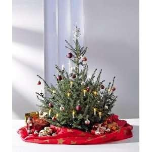 Weihnachtsbaum Deko Decke Farbe rot Weihnachtsbaumdecke