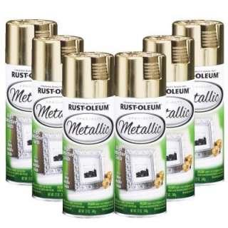 Rust Oleum Specialty Metallic 12 oz.Gloss Gold Spray Paint (6 Pack)