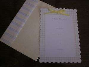 Karen Neuburger Baby Shower Invitations w/ Ribbons NIP
