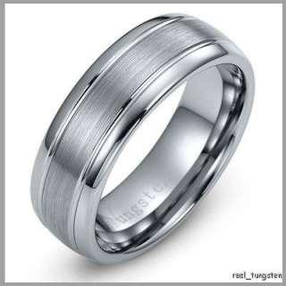 Wedding Ring New Mens Tungsten Carbide Band 8   12