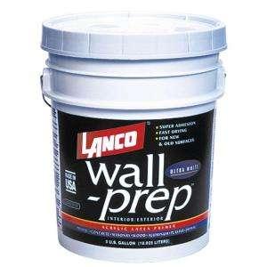 Lanco Wall Prep 5 Gal. Acrylic Latex Ultra White Interior/Exterior