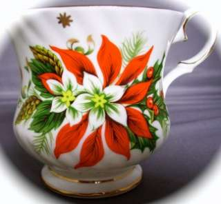ROYALTY FINE BONE CHINA NOEL CUP & SAUCER ENGLAND