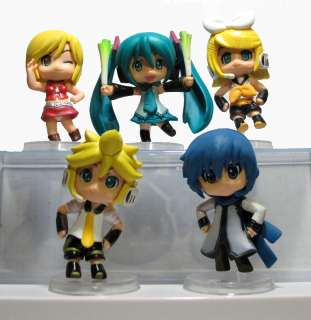 Vocaloid Miku Hatsune Rin Len Japan anime toy figures lot 5pcs