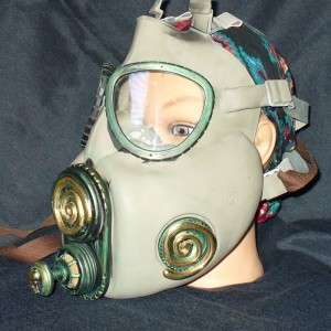 Gas Mask Goggles Glasses sci fi goth Rave sci fi biker face mask