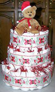 Christmas Diaper Cake Excellent Baby Shower Gift