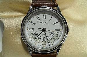 VINTAGE RARE MODEL MENS RUSSIAN POLJOTWATCH QUARTZ
