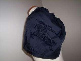 BURBERRY NAVY BLUE PRORSUM LOGO COSMETIC MAKEUP BAG POUCH GREAT