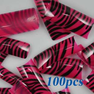 Roseo Stripes Style False French Acrylic Nail Art Tips NEW