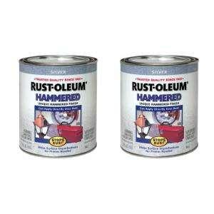 Rust Oleum Stops Rust 32 Oz. Hammered Silver Protective Enamel (2 Pack