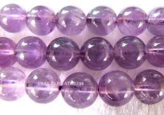 Natural10mm Purple Amethyst Round Beads 15