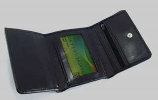 Just Leather Mens Tri Fold Wallet Card Holder Passcase Genuine