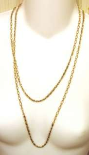 Vintage Freirich 56 Inch Gold Tone Chain Necklace