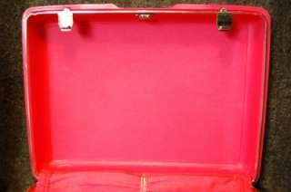 Vintage Samsonite Hot Pink Royal Traveler Luggage Train Case Suitcase