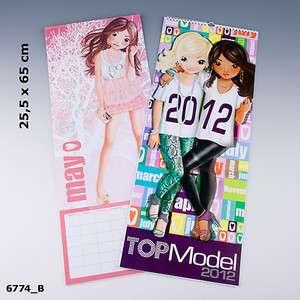 Top Model Wandkalender Kalender 2012 Neu mit Malvorlagen Depesche