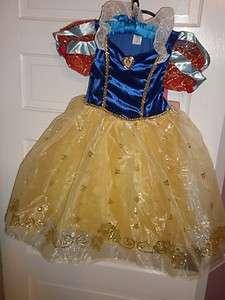 Disney Parks Authentic Snow White Costume GIRLS MEDIUM 7/8 NEW
