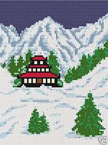 Oriental Snowscape 20X27 Latch Hook Kit