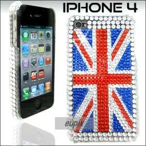 BLING UK FLAG GEMS CASE COVER FOR iPHONE 4 4G MB037 C