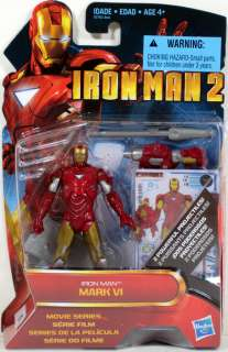 Hasbro Iron Man 2 Mark VI with 2 projectiles #10 NEW 4 Action Figure