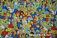 The Simpsons Springfield Bart Boys Curtain Valance NEW