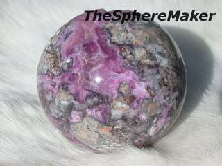 Siaz COBALTO CALCITE in MATRIX SPHERE GEODE LIKE CRYSTAL BALL MOROCCO